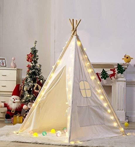 Led Stars Lichterkette für Tipi Zelt, Star Fairy String Lights Straps Dekorativ für Kinder Teepee Spielzelt Weihnachtsbaum, Batterien Betrieben
