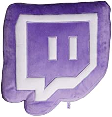 Minky purple Glitch shaped pillow plush with a patch applique Glitch in minky white. Surface clean only. 100% Poly