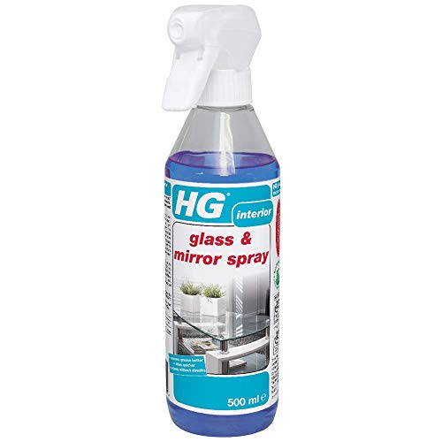 HG Glass & Mirror Spray 500 ml is a streak-free glass cleaner which removes grease and dirt quickly and easily