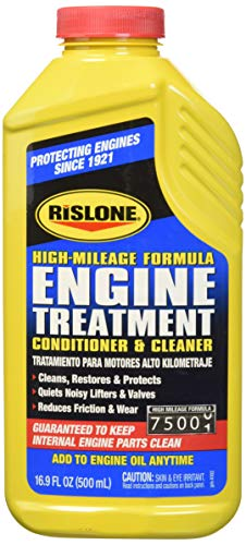 Rislone 4102 Yellow Pack of 1 Engine Treatment Specially Formulated for High-Mileage Engines-16.9 oz