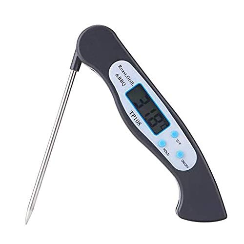 QIYUE Opvouwbare Eten Thermometer Digital Kitchen Voedsel Koken BBQ Vleesvork Barbecue Probe Type temperatuurmeter, for Koken van de Keuken, BBQ, Milk
