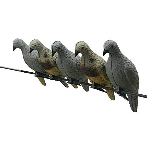 Paquete de 5 objetivos de tiro con arco 3D flechas de animales de caza arco ligero paloma cebo de espuma EVA disparo