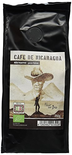 Chavalo Cafe de Nicaragua ganze Bohne Bio Kaffee, 3er Pack (3 x 250 g)