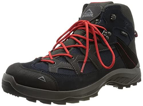 McKINLEY Herren Discover Mid AQX Trekking-& Wanderstiefel, Blau (Navy Dark/Red Dark 904), 44 EU