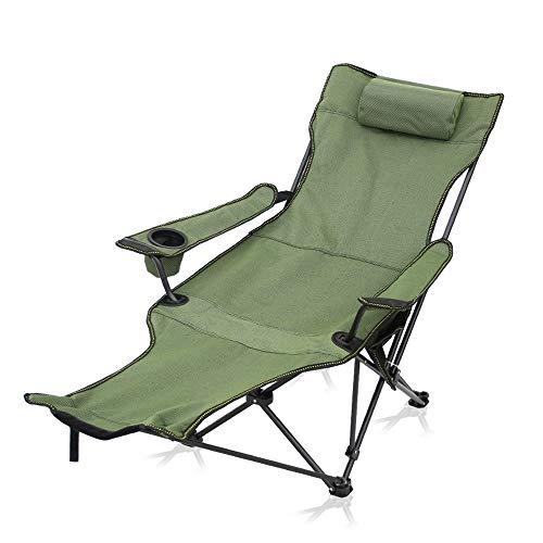 Volver alta silla que acampa con bolsa de aire portátil Sillón engranaje que acampa de la comida campestre Silla plegable con reposacabezas transpirable, Cup Holder y los apoyabrazos de servicio for v