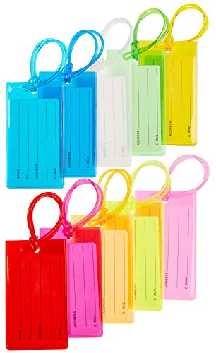10 Pack Luggage Tag Suitcases Pl...