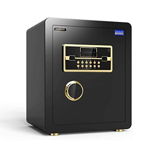 SMLZV Security Safe - Digital Safe,Electronic Steel,Fireproof Lock Box with Keypad to Protect Money,Jewelry,Passports for Home,Business or Travel (Color : Black)