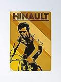 Bernard Hinault - Cycling Legends Art Poster for Office