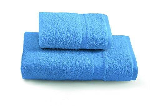 Gabel Tintunita & Co Set Asciugamani, 100% Cotone, Bluette, 100x60x0.8 cm