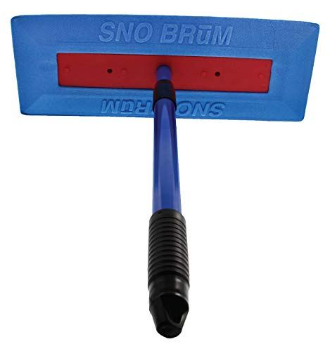 Product Image of the SNOBRUM – The Original Snow Remover for Cars and Trucks – 28 Inch Expandable Snow Brush for Car with Foam Head – Made in The USA, Push-Broom Design – No-Scratch Snow Removal for Vehicles