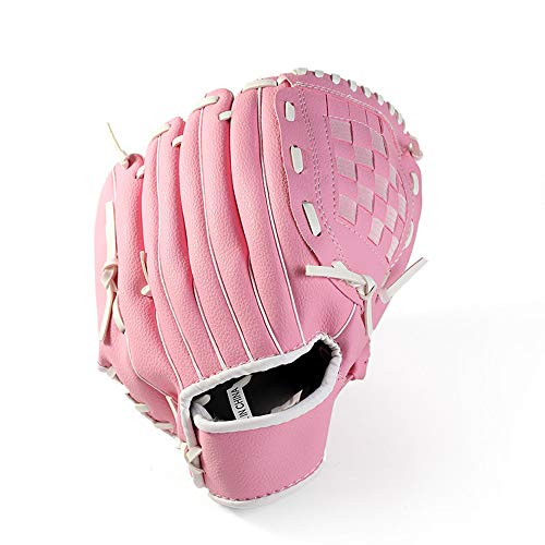 Sport Baseballhandschuh Linkshänder Baseball- und Softball-Feldhandschuh - Verstellbarer Kunstleder-Feldmeister-Baseballhandschuh in Mehreren Farben,Pink,11.5in