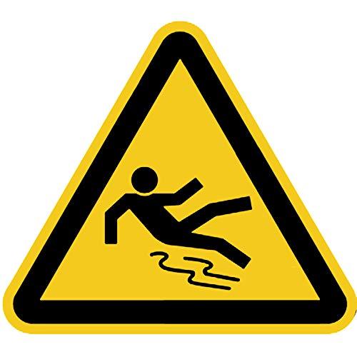 Aufkleber Warnung vor Rutschgefahr gemäß ASR A1.3 / BGV A8, Folie selbstklebend 20cm (Warnschild) praxisbewährt, wetterfest