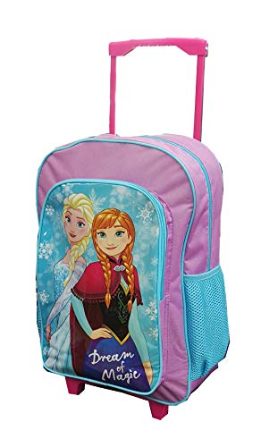Kids Trolley Cabin Bag Suitcase with Wheels and Telescopic Handle - Ideal for Short Breaks, Holidays, sleepovers and School Trips (Frozem)