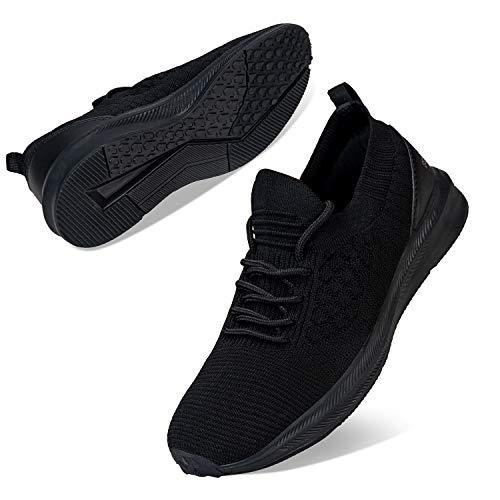Femmes Baskets Mode Sneakers Running Dames Chaussures de Course Gym Fitness Sport Training(Noir, 41EU)