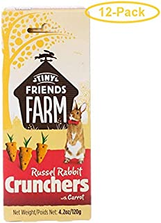 SupremePetfoods Tiny Friends Farm Russel Rabbit Crunchers with Carrot 4.2 oz - Pack of 12