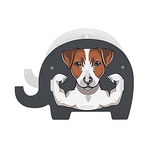 Portalápices lindo y fuerte perro musculoso titular de la pluma del hogar Oficina Almacenamiento Caddy caja Novel Pen Organizador Maquillaje B Holder para la decoración de la oficina del hogar