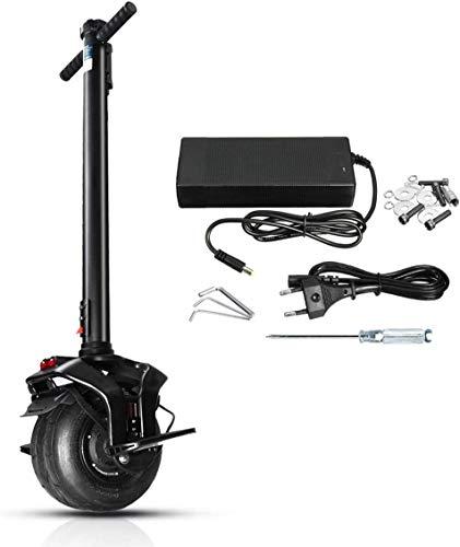 JILIGUALA Singola Ruota Monociclo Elettrico Scooter Una Ruota Auto-equilibratura monocycle con mozzo Motore Manubrio 500W 60V 10 Pollici Peso w (Dimensioni, 10.4),10.4