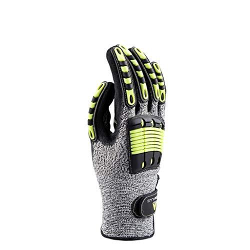 JKMQA Outdoor-Handschuhe für Bergsteiger Arbeitsschutz Gummi-Schutzhandschuhe, kann für Anti-Schneiden, Stich, Anti-Kollision, Anti-Rutsch-Arbeit verwendet