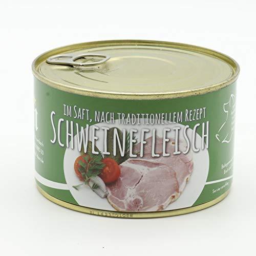 Konserve Diem Schweinefleisch im eignen Saft - Kassler Schinken im eigenen Aspik - Dosenfleisch - 400g - Lange Haltbar