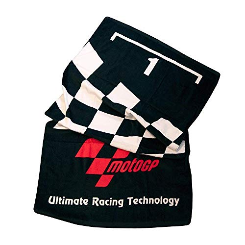 MotoGP Toalla de Playa diseño «PARC Fermé» - Color Negro