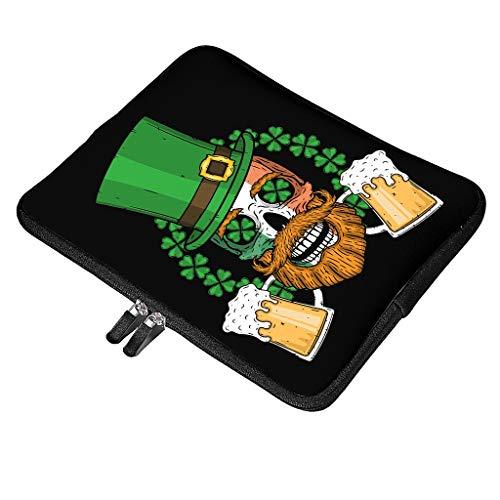 Funda multifuncional para ordenador portátil, con asa, compatible con el día de San Patricio, diseño especial, resistente a los golpes, con bolsillo para accesorios, color blanco 42 x 32 x 1,5 cm