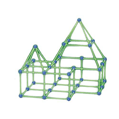 WAROOM Kit de construcción para niños, cortina de cuentas luminosas – Regalo del constructor de fuerte – Construye tu kit para la construcción de castillos, túnel, cortinas, arañas, torres, etc.