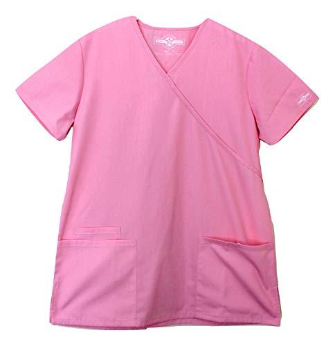 Smart Uniform 3XL 1224 Mock Scrub Top (3XL, Pixel pink [ Rosa])