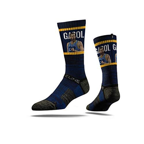 Strideline NBA Memphis Grizzlies Marc Gasol Action - Calcetines deportivos, talla única, color negro