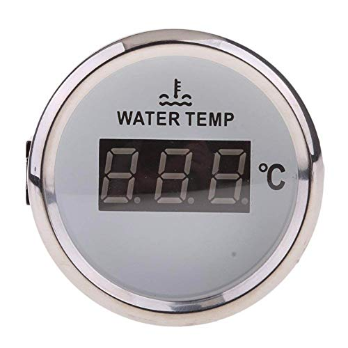 Jauge de température de l'eau numérique Mètre 40-120℃ 52mm 9-32V avec rétroéclairage