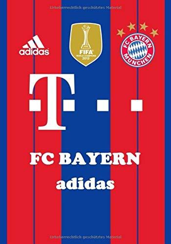 FC BAYERN ADIDAS: JOURNAL NOTEBOOK FOOTBALL SOCCER