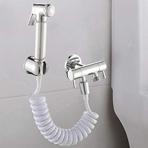 Cuffia per doccia Bidet in schiuma Bidet telescopico Tubo flessibile a molla 1,5 m PVC flessibile a scomparsa Flessibile per doccia Soffione doccia Bi