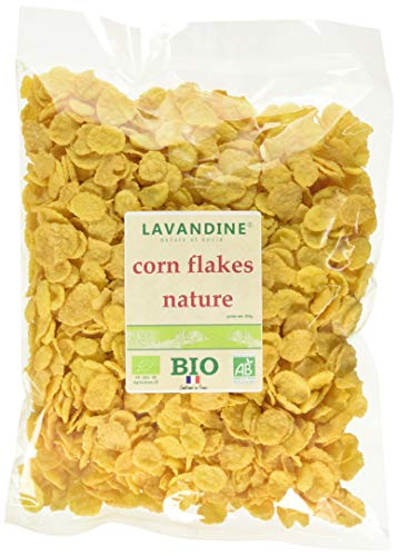LAVANDINE Corn Flakes Nature Bio sans Gluten 200 g - Lot de 8