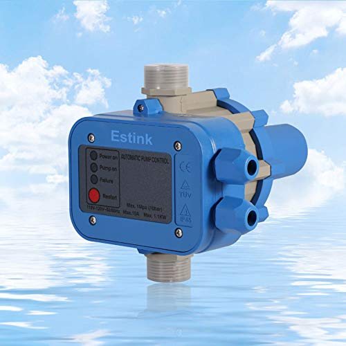 Water Pressure Switch,110V 50/60HZ Automatic Electric Electronic Water Pump Pressure Controller Protection Pump from Damaged Caused by Dry-running