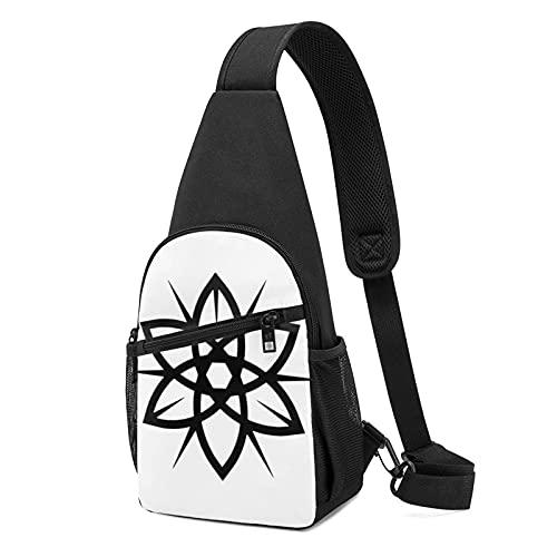 Bolso de pecho con diseño de anime (bolsa de hombro de cuerpo cruzado) casual de moda deportiva de gran capacidad, bolso de hombro unisex de regalo para la escuela, escalada de montaña, viajes