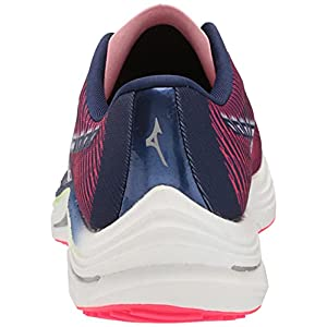 Mizuno Women's Wave Rebellion Running Shoe, Diva Pink-Indigo White, 8.5