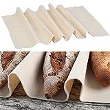 THETHO Tela Panadero de Lino Natural Tela fermentada de 45x75cm Panadero Lino Paño Panadero para Rápida Fermentación de la Masa