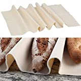 N \ A/A Tela Panadero de Lino Natural Tela fermentada de 45x75cm Panadero Lino para Rápida Fermentación de la Masa