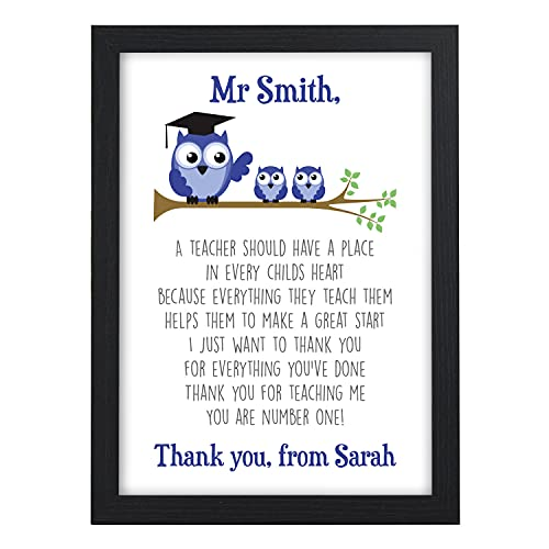 Best Teacher Gift - Thank You Gift for Teacher Personalised Poem Presents -...