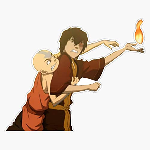 Leyland Designs Zuko and Aang Cat Fighting Sticker Outdoor Rated Vinyl Sticker Decal for Windows, Bumpers, Laptops or Crafts 5""