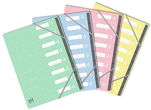 Oxford Ordnungsmappe TopFile+ A4, 8 Positionen, Einband, verschiedene Farben, Pastellfarben