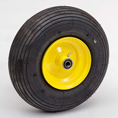 Lapp Wheels 13.6' Pneumatic Wheel, Garden cart/Wagon/Wheelbarrow Replacement, 4.00-6 Wheel Size, Hub/Bearing Size Options