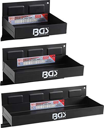 BGS 67150 | Magnet-Ablagen-Satz | 3-tlg. | 150 / 210 / 310 mm | Magnetschalen | Magnetische Ablage | Magnetkorb
