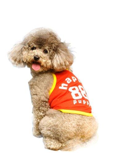 Lovely Puppy Apparel Pet Vêtements Pet Vêtements de sports Grille Rouge Orange, MM