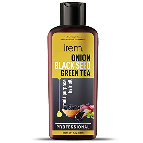 Irem Onion, Black Seed & Green tea Hair Oil For Hair Growth With Green Tea Oil Promotes Hair Growth Control Hair Fall & Dandruff 250ml