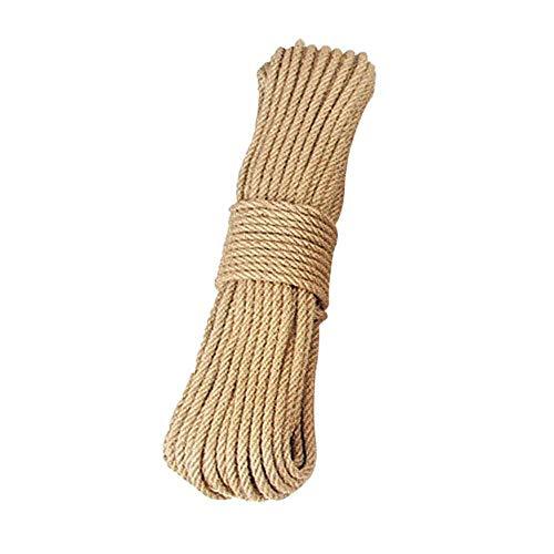 LLAAIT 8mm Natur Jute Seil Schnur Seil Hanf Twisted Cord 3m-50m Makramee String DIY Craft Pet Scratching Handmade Dekoration, 20m