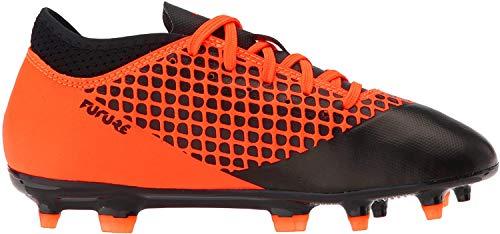 PUMA Kids' Future 2.4 Firm/Artificial Ground Soccer Shoe, Black-Shocking Orange, 4.5 M US Big Kid