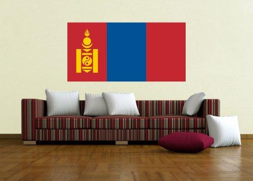 Kiwistar Wandtattoo Sticker Fahne Flagge Aufkleber Mongolei 60 x 30cm