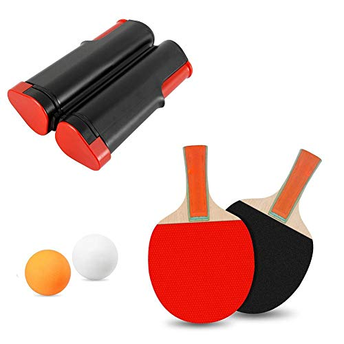 Best Price Ping Pong Set - Includes Ping Pong Net for Any Table, 2 Ping Pong Paddles/Rackets 2 Ping ...