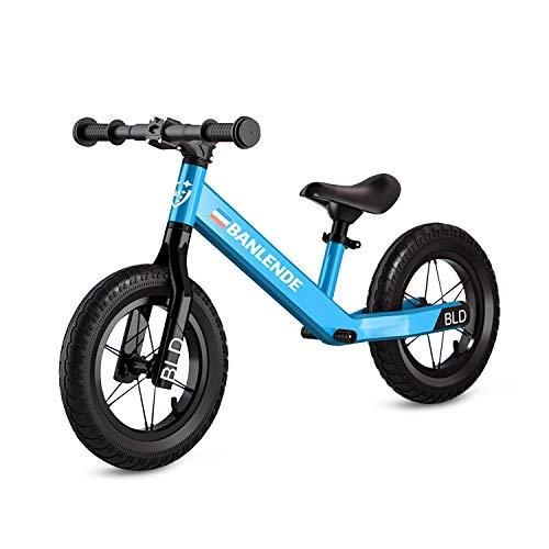 Zeroall Laufrad Kinder Fahrrad für 2-6 Jahren Kinderlaufrad Leicht Aluminiumlegierung Kein Pedal Balance Bike mit Vverstellbarem Sattel Ausgezeichnetes Geschenk für Kinder & Kleinkinder(Blau)