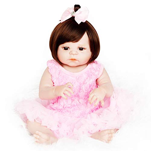Buy Bargain Sacow 58 cm Girl Dolls, Reborn Silicone Baby Girl Dolls for Girl Handmade Doll Baby Kids...